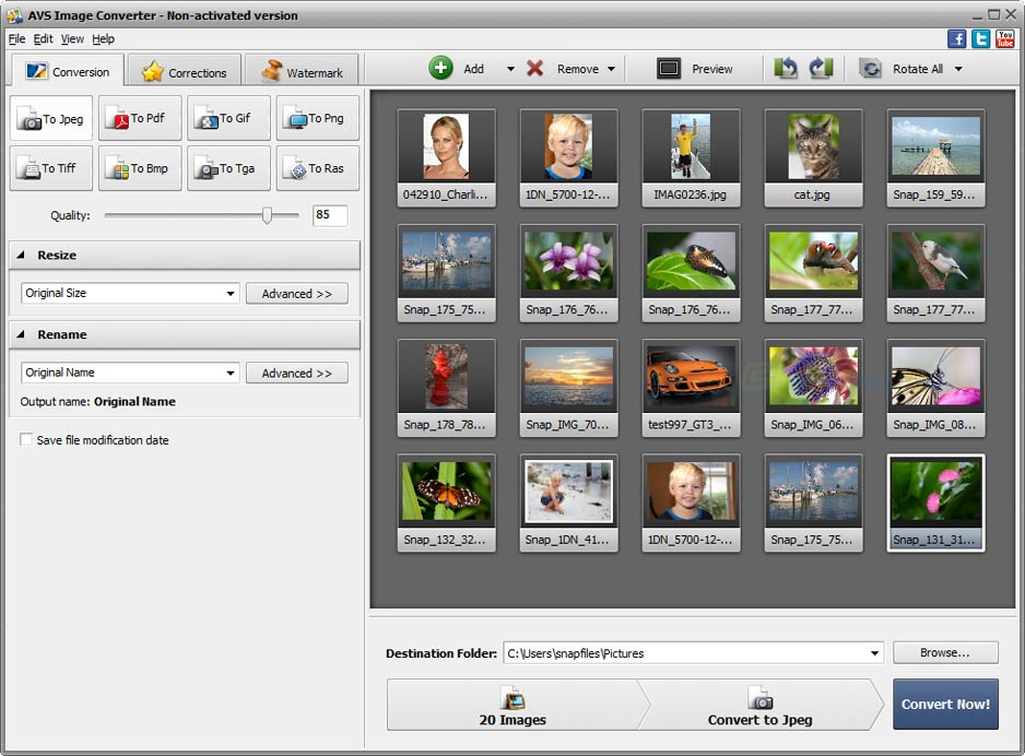 screen capture of AVS Image Converter