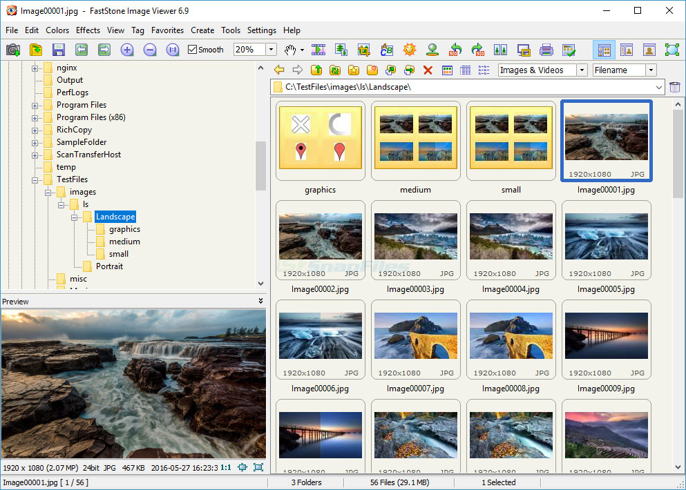 screen capture of FastStone Image Viewer