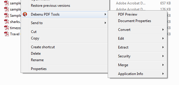 screen capture of Debenu PDF Tools