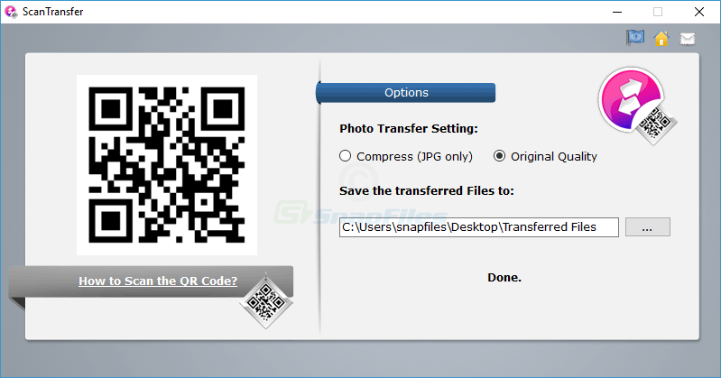 screen capture of ScanTransfer