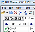 DBF Viewer 2000 screenshot