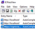 IE PassView screenshot