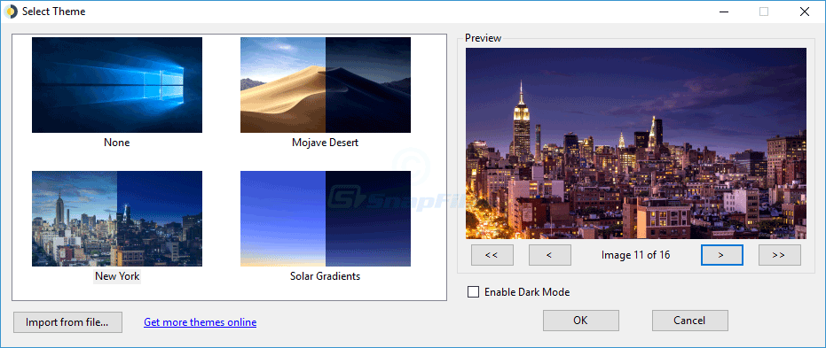 screen capture of WinDynamicDesktop