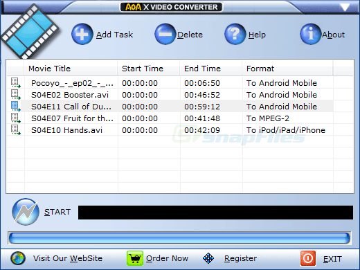 screen capture of Advanced X Video Converter